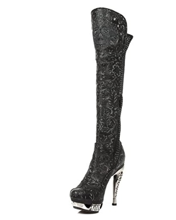 New Rock NR M.MAG084 S4 Black Knee High Boots