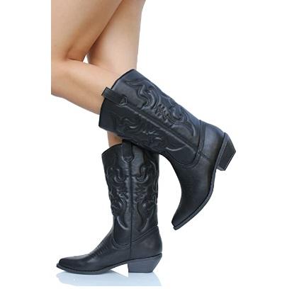 Soda Women Cowgirl Cowboy Western Stitched Boots