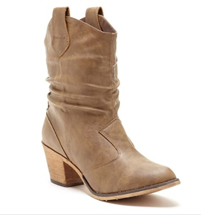 Charles Albert Women's Modern Western Cowboy Distressed Boot